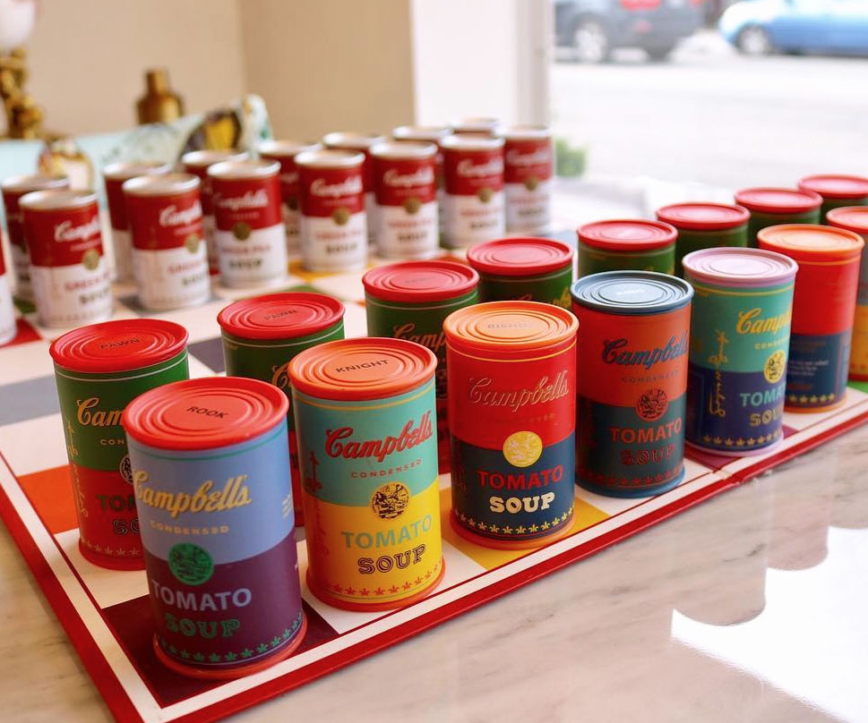 Andy Warhol Campbell's Soup Chess Set