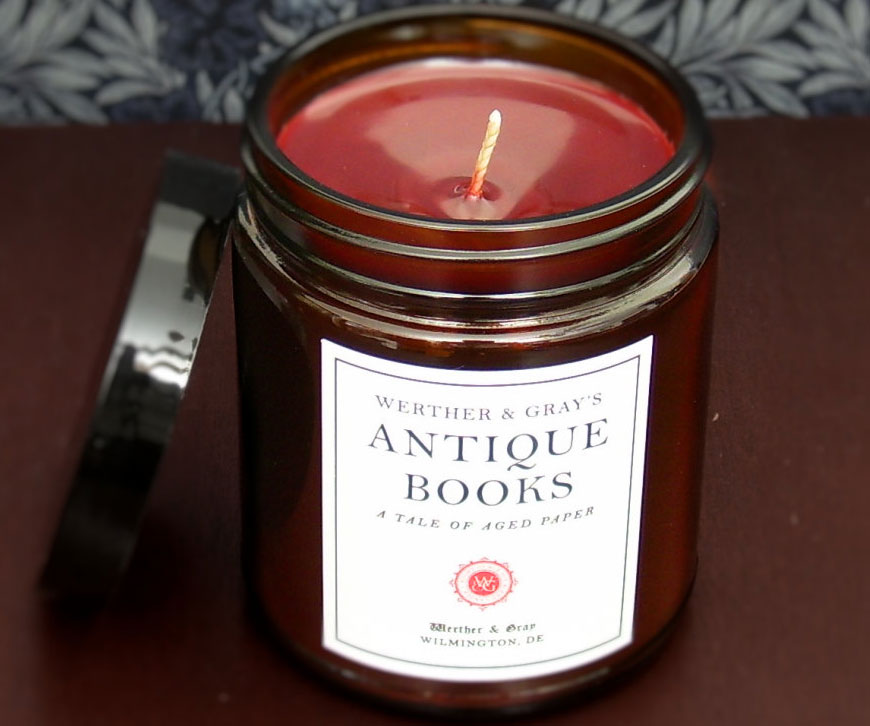 Antique Books Scented Candle 1