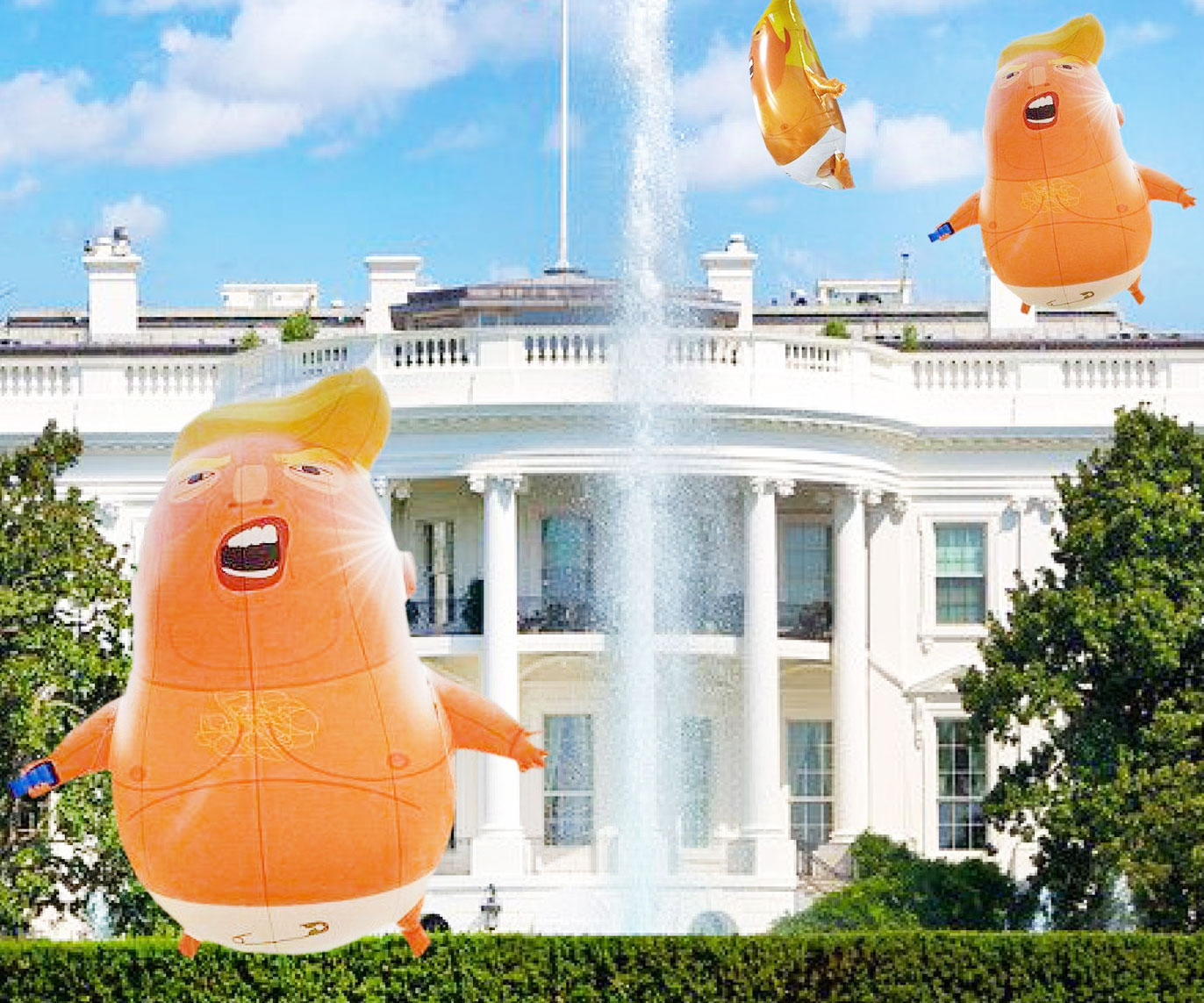 Baby Trump Party Balloons