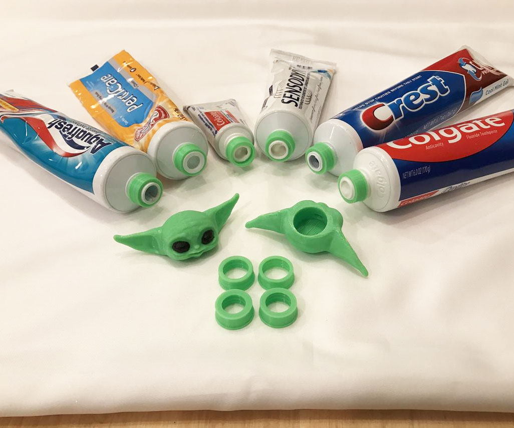 Baby Yoda Toothpaste Topper 2