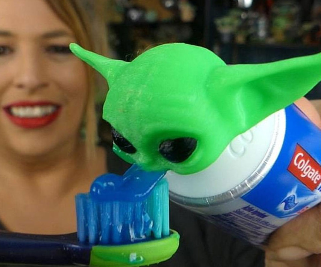 Baby Yoda Toothpaste Topper