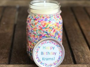 Birthday Cake Scented Candle 1