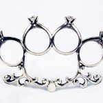 Brass Knuckles Engagement Ring 1