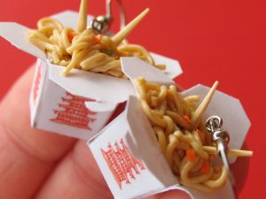 Chinese Takeout Container Earrings