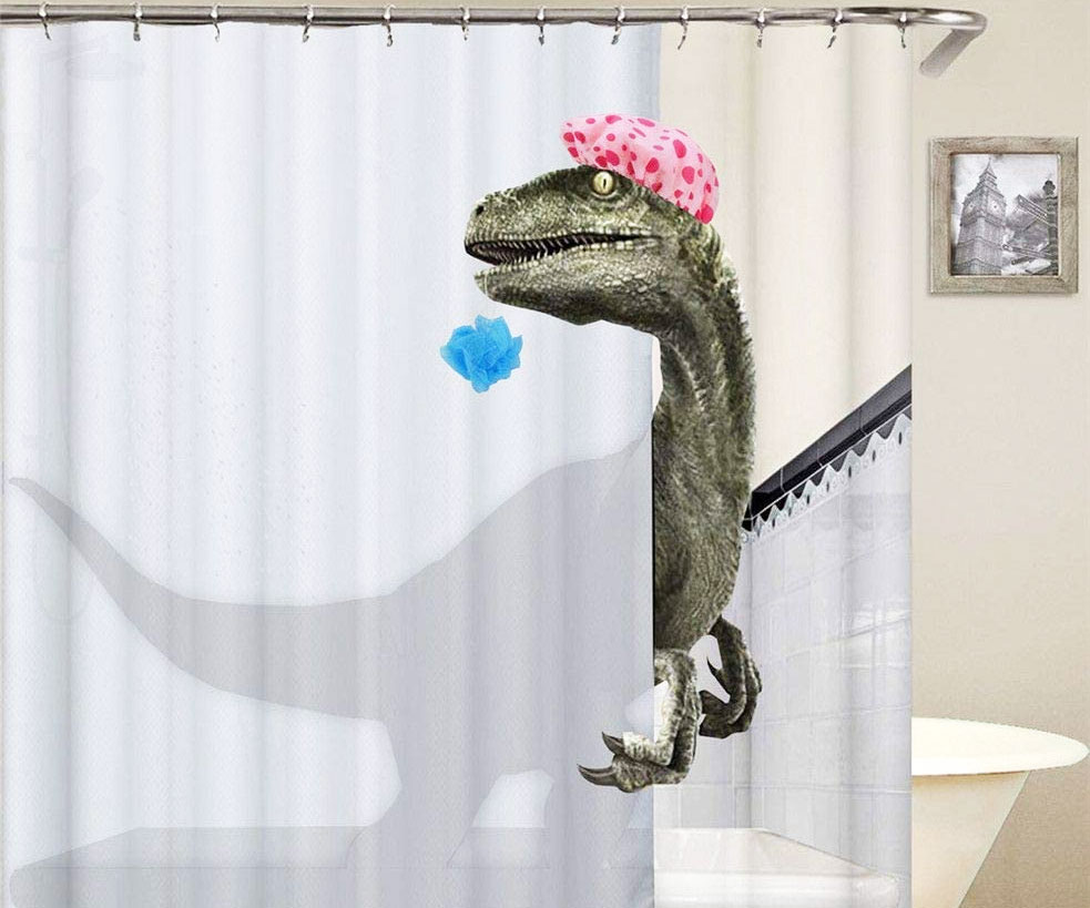 Clever Girl Raptor Shower Curtain