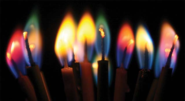 Colored Flame Candles 1