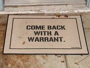 Come Back With A Warrant Doormat 1