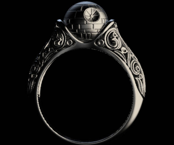 Death Star Engagement Ring 1