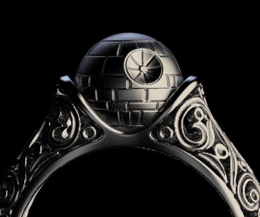 Death Star Engagement Ring