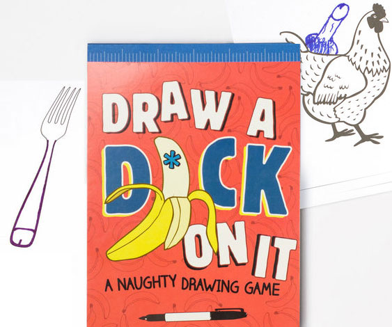 Draw A Dick On It Illustration Book