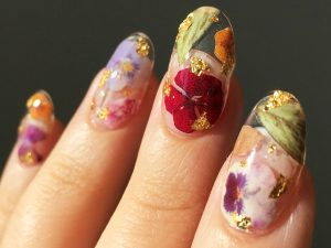 Dried Flowers Press-On Nails