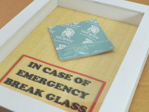 Emergency Condom Glass Container