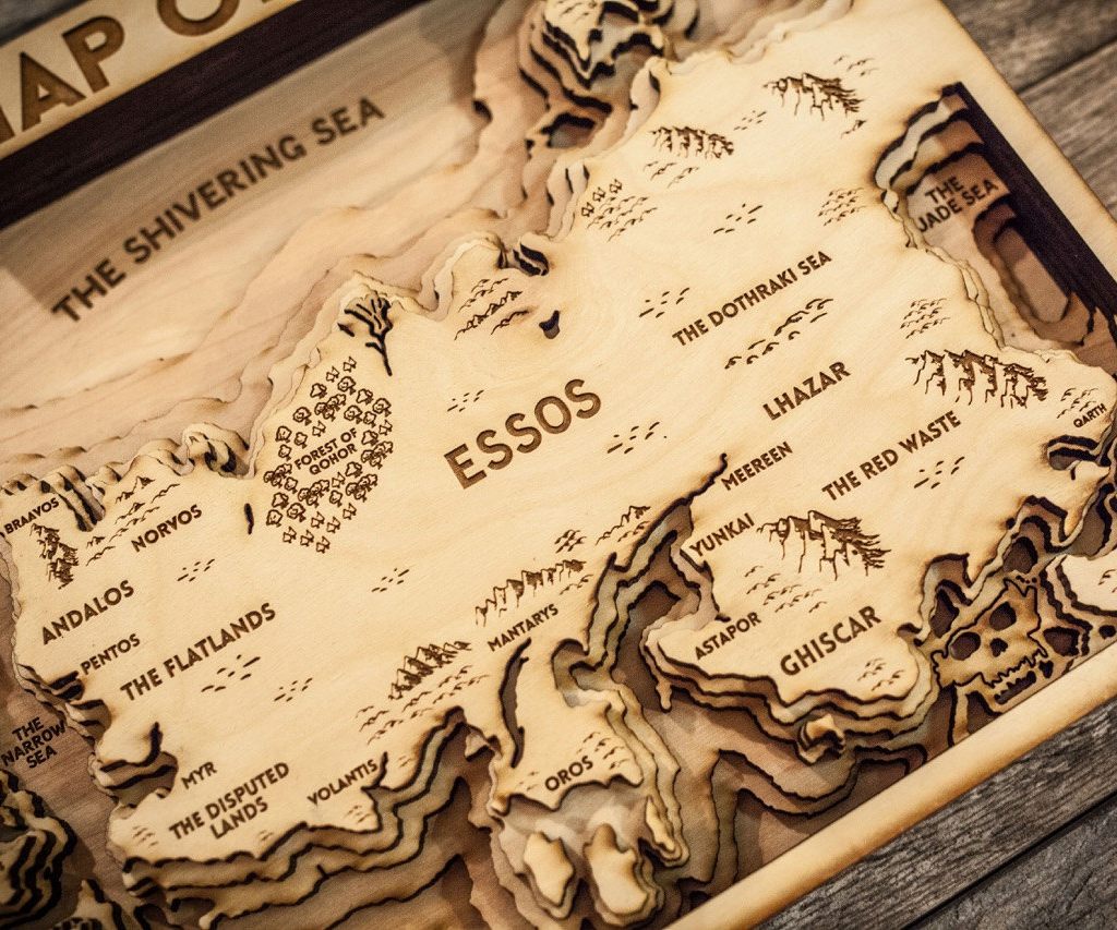 Game Of Thrones 3d Wood Map 1