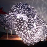 Geodesic Table Light Sculpture