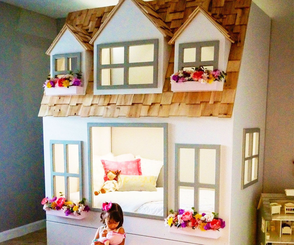 Giant Dollhouse Bunk Bed