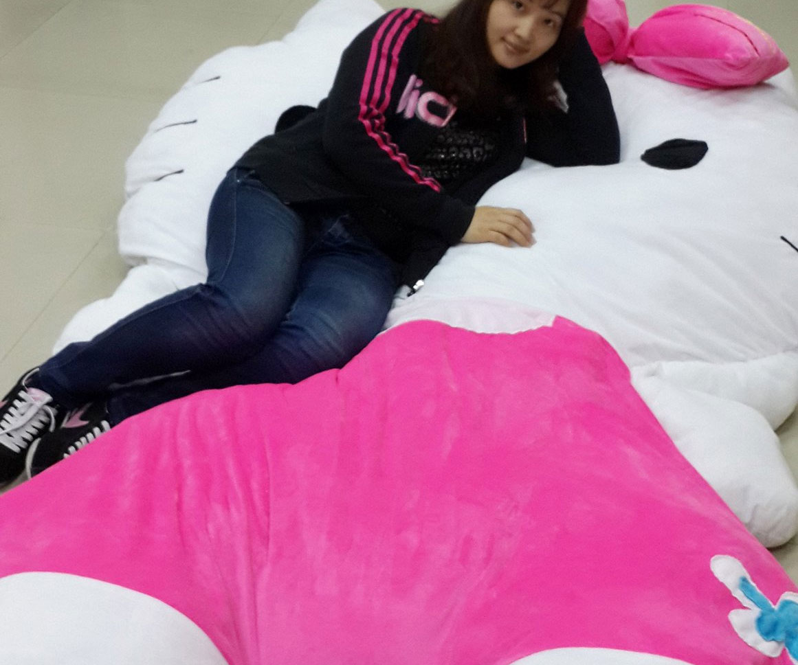 Giant Hello Kitty Pillow Bed 1