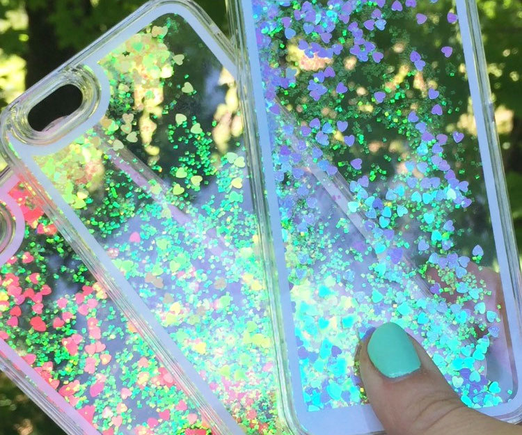 Holographic Glitter iPhone Case