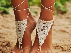 Ivory Barefoot Sandals 1