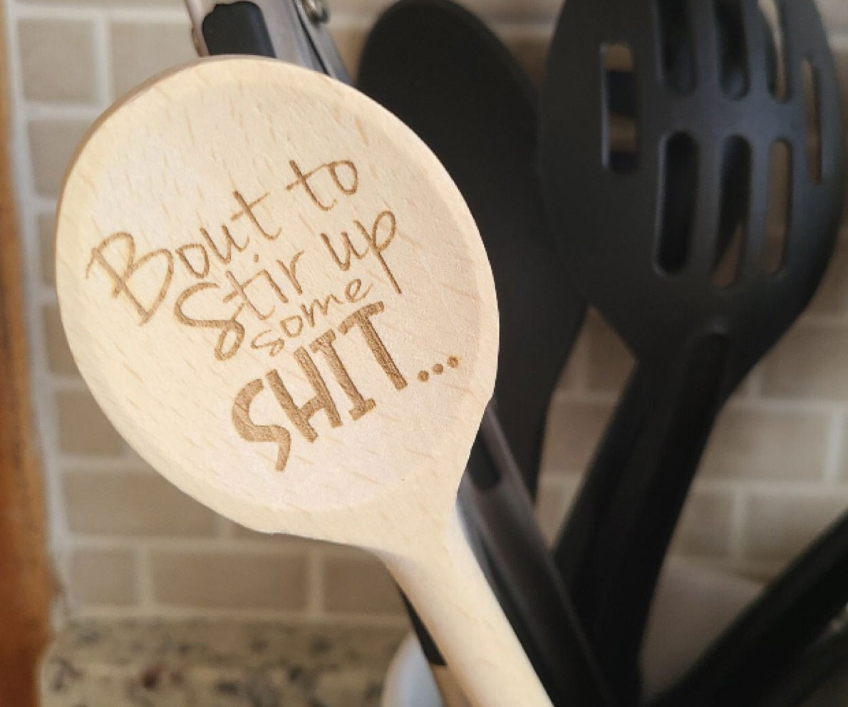 Laser Engraved Funny Wooden Spoons 1