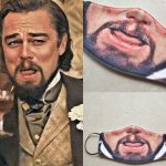 Leo Dicaprio Laughing Meme Face Mask 2