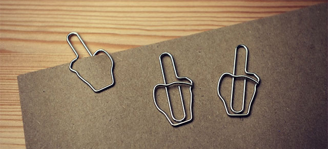 Middle Finger Paperclips 1