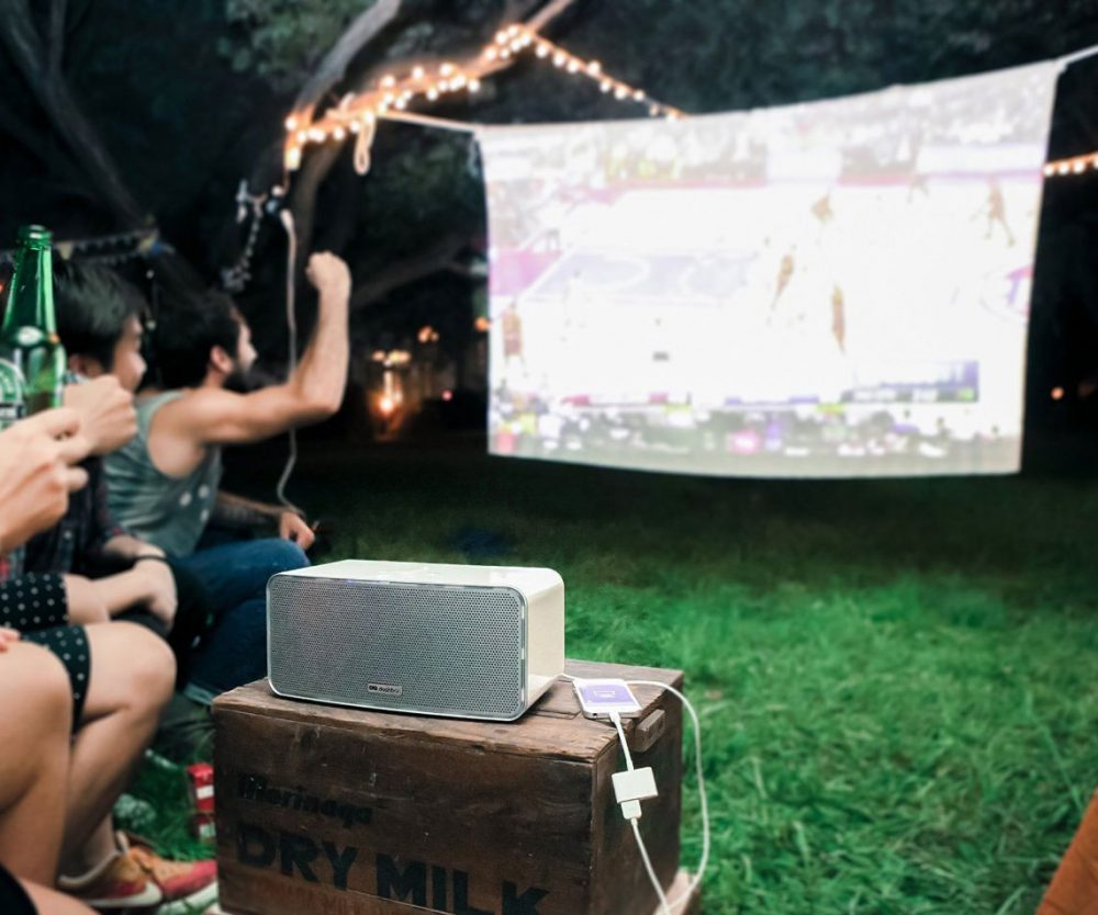 Mobile Cordless Boombox Projector 1