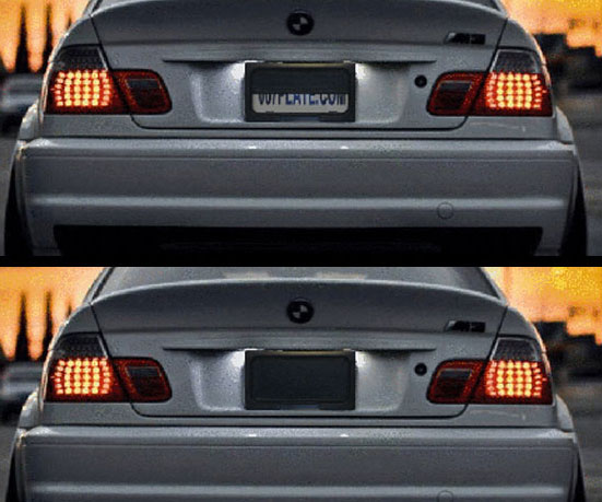 Motorized License Plate Cover