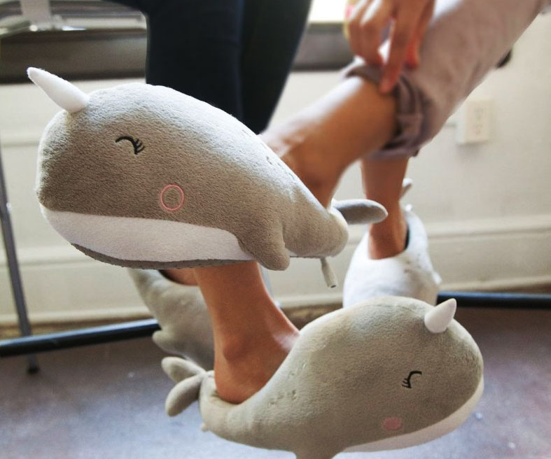 Narwhal Heated Slippers 1