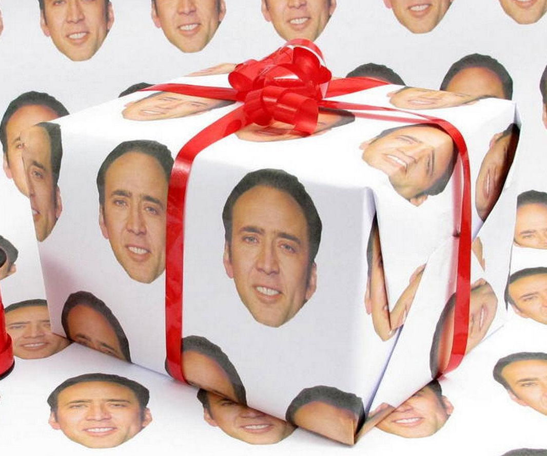 Nicolas Cage Gift Wrapping Paper
