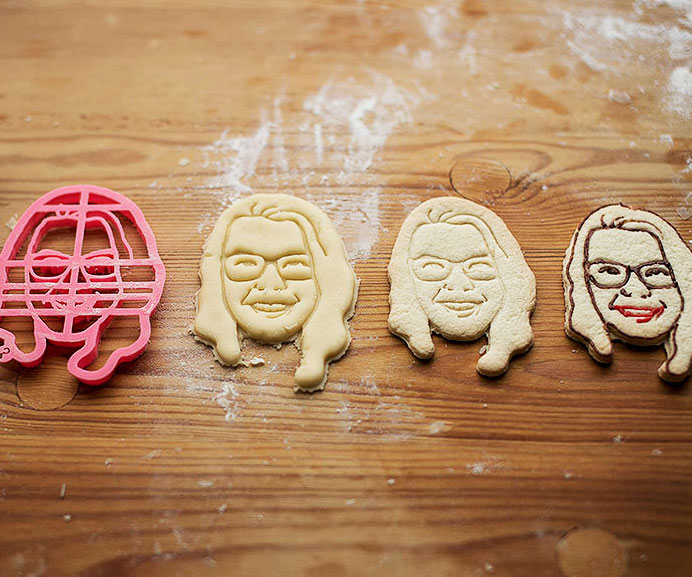Personalized Portrait Cookie Cutters