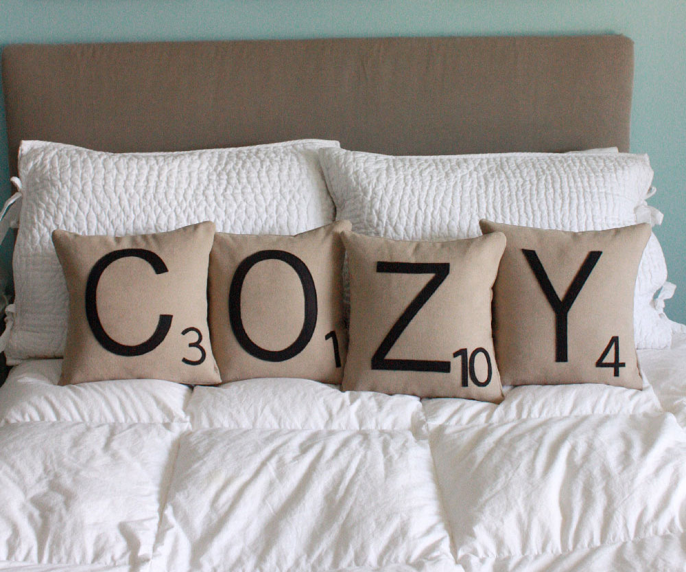 Personalized Scrabble Pillows 1