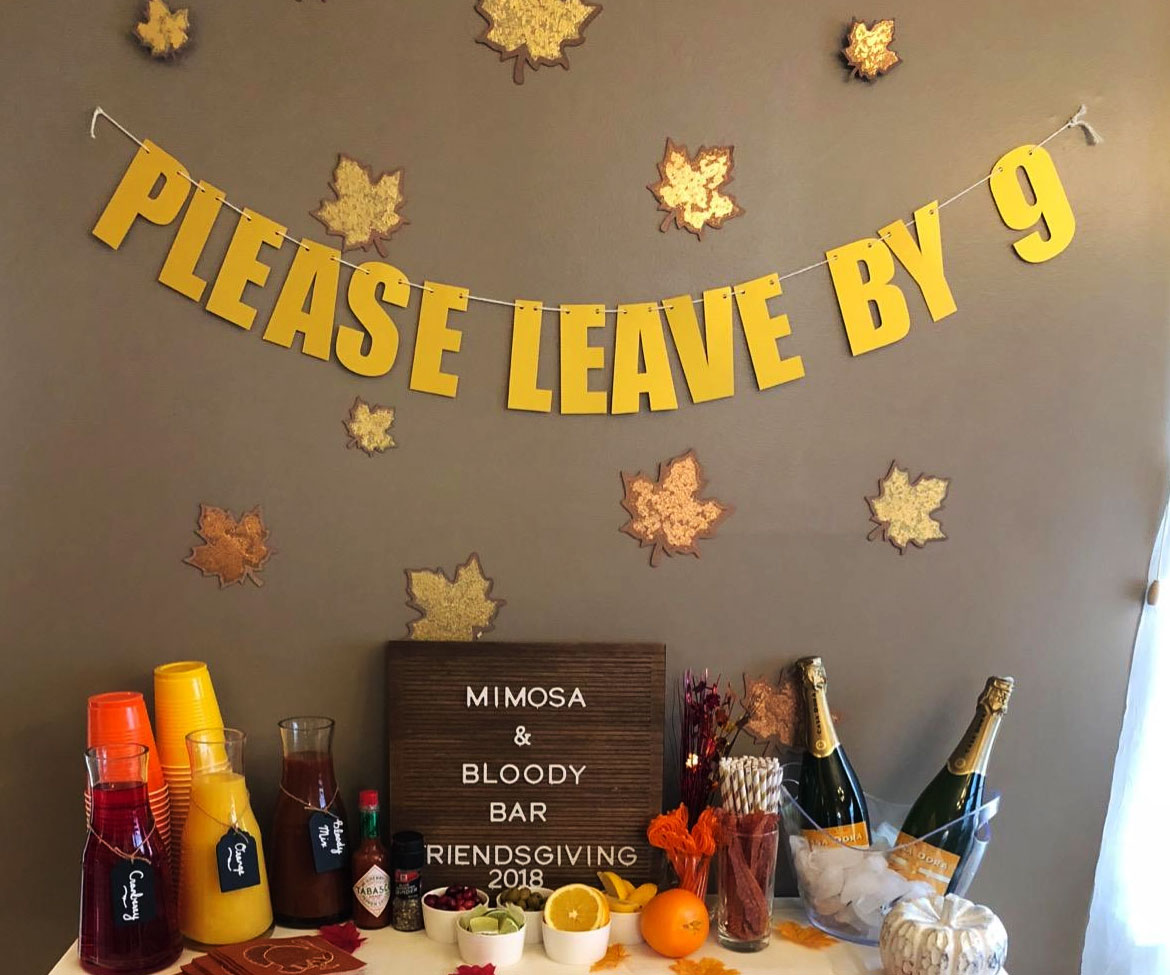 Please Leave By 9 Party Banner 1
