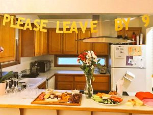 Please Leave By 9 Party Banner
