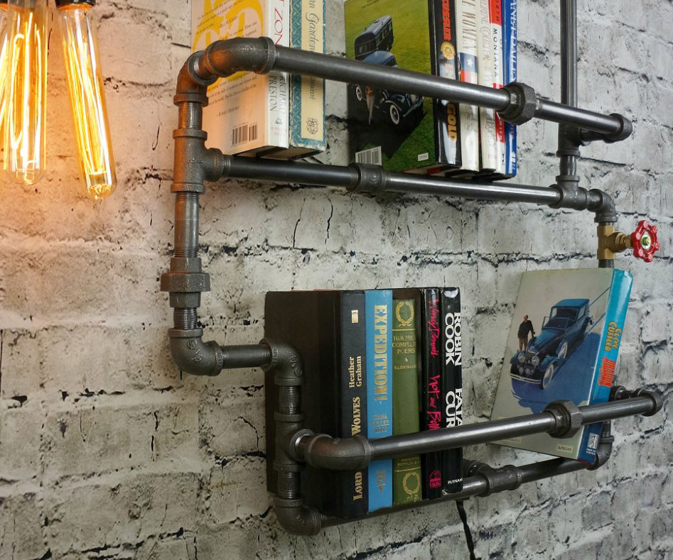 Plumbing Pipes Bookshelf 2