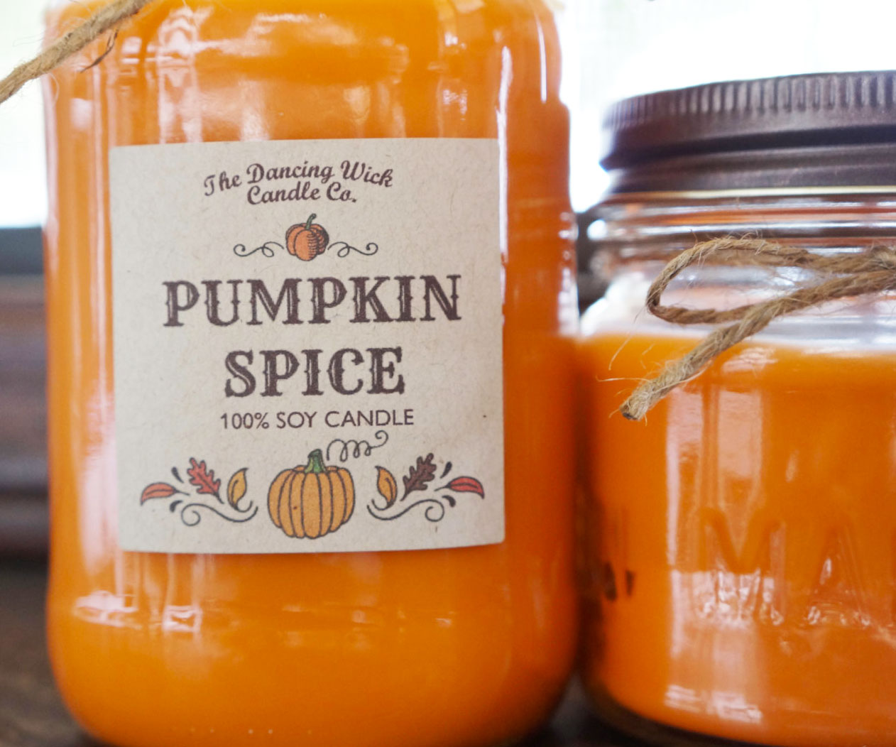 Pumpkin Spice Scented Candle 2