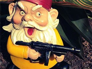 Scarface Lawn Gnome