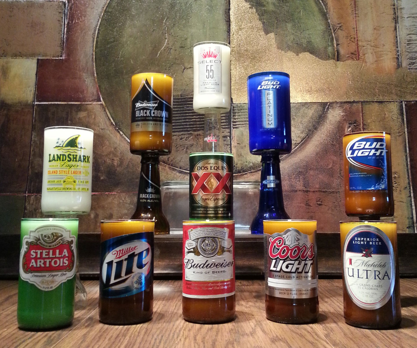 Scented Beer Bottle Candles 2