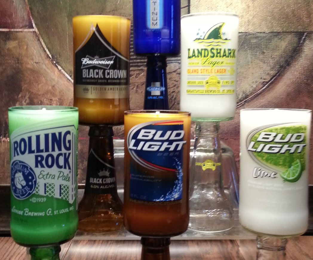 Scented Beer Bottle Candles