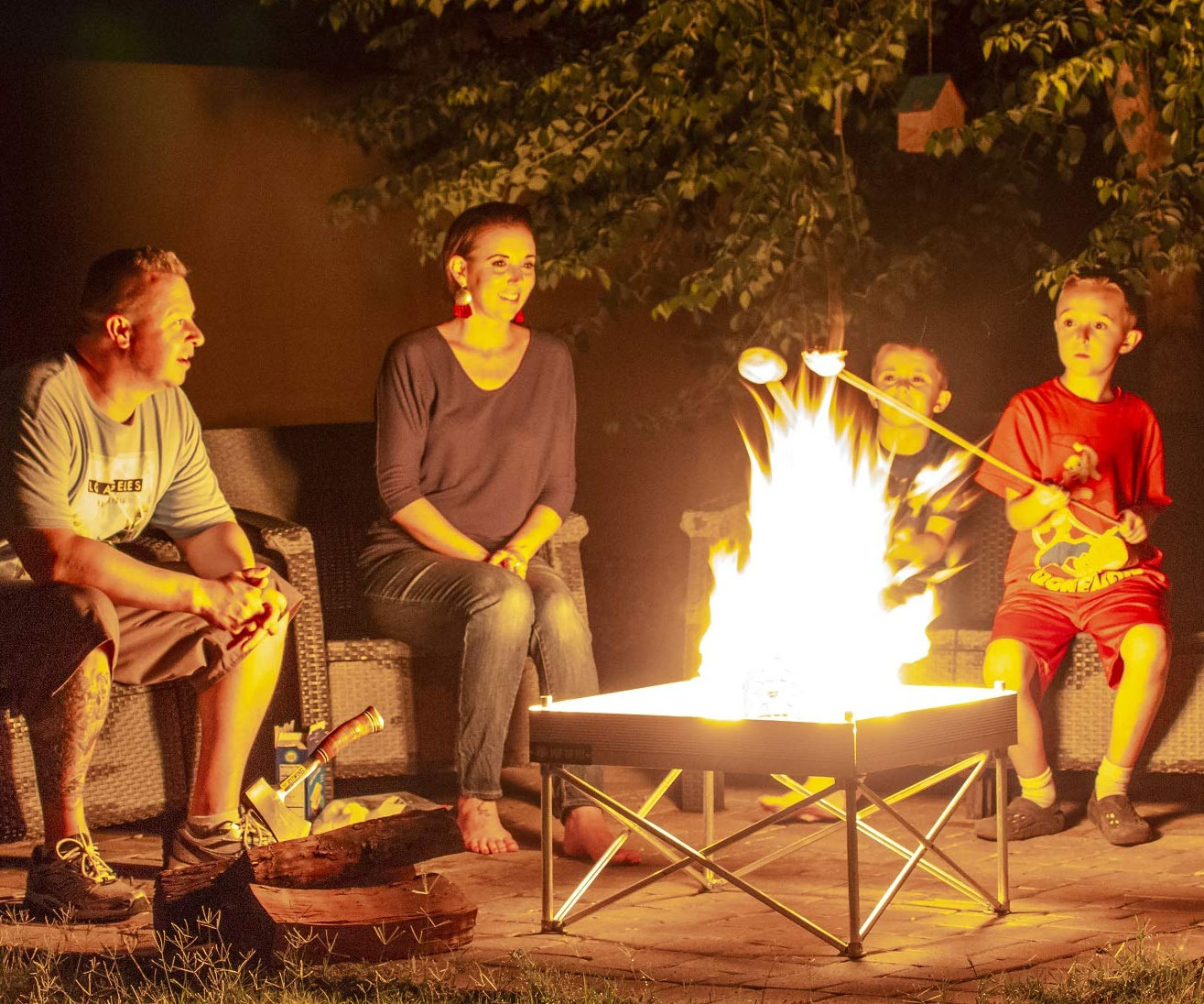 The Ultra Portable Pop Up Fire Pit 2