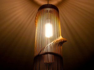 Twisted Wooden Lampshade 1