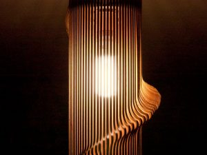 Twisted Wooden Lampshade